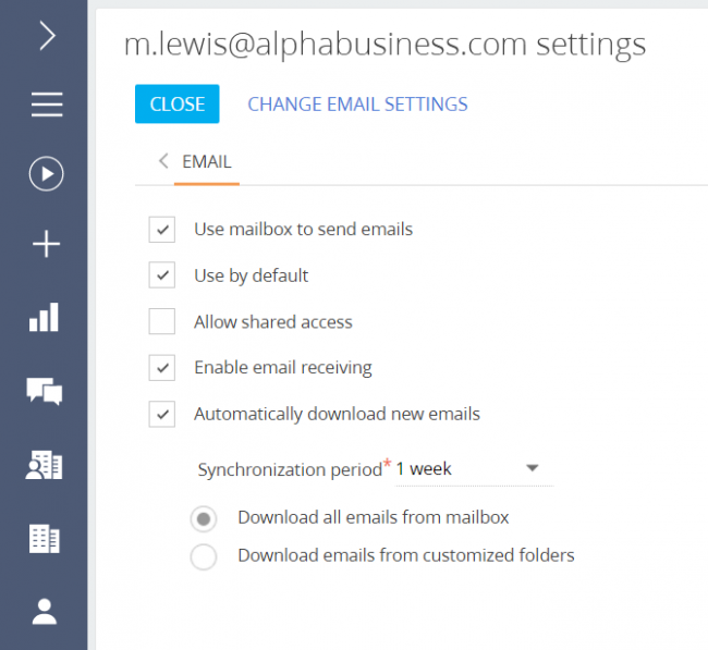 Mail integration via IMAP / SMTP